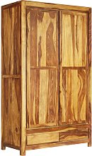 vidaXL Wardrobe Solid Sheesham Wood 110x55x190 cm