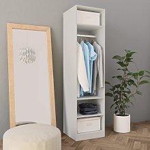 vidaXL Wardrobe White 50x50x200 cm Chipboard