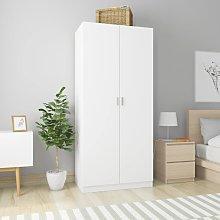 vidaXL Wardrobe White 90x52x200 cm Chipboard