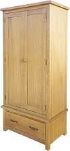 vidaXL Wardrobe with 1 Drawer 90x52x183 cm Solid