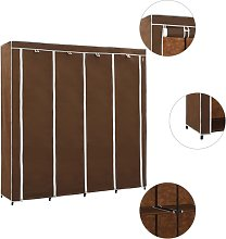 vidaXL Wardrobe with 4 Compartments Brown