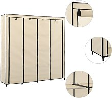 vidaXL Wardrobe with 4 Compartments Cream
