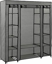 vidaXL Wardrobe with Compartments and Rods