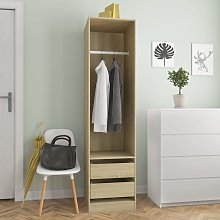 vidaXL Wardrobe with Drawers Sonoma Oak 50x50x200