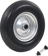 vidaXL Wheelbarrow Wheel with Axle Solid PU 4.00-8