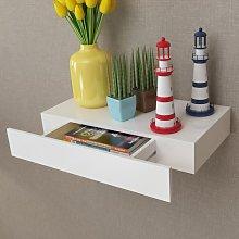 vidaXL White MDF Floating Wall Display Shelf 1