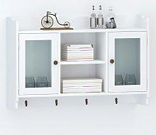 vidaXL White MDF Wall Cabinet Display Shelf