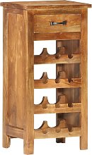 vidaXL Wine Cabinet 40x30x80 cm Solid Acacia Wood