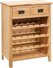 vidaXL Wine Cabinet 72x32x90 cm Solid Oak Wood