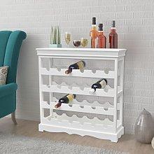 vidaXL Wine Cabinet Abreu White
