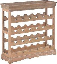 vidaXL Wine Cabinet Brown 70x22.5x70.5 cm MDF