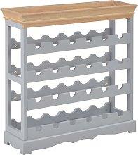 vidaXL Wine Cabinet Grey 70x22.5x70.5 cm MDF