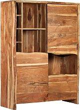 vidaXL Wine Cabinet Solid Acacia Wood Live Edges