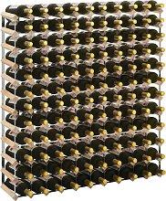 vidaXL Wine Rack for 120 Bottles Solid Pinewood