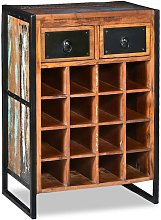 vidaXL Wine Rack for 16 Bottles Solid Reclaimed