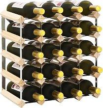 vidaXL Wine Rack for 20 Bottles Solid Pinewood