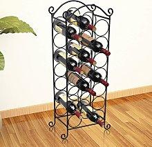 vidaXL Wine Rack for 21 Bottles Metal