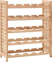 vidaXL Wine Rack for 25 Bottles Solid Walnut Wood