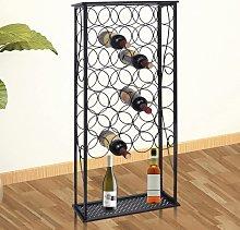vidaXL Wine Rack for 28 Bottles Metal
