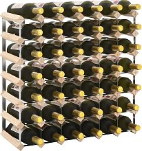 vidaXL Wine Rack for 42 Bottles Solid Pinewood