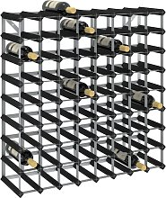 vidaXL Wine Rack for 72 Bottles Black Solid Pine