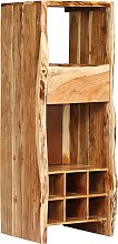 vidaXL Wine Rack Solid Acacia Wood Live Edges