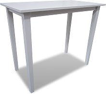 vidaXL Wooden Bar Table White