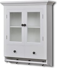 vidaXL Wooden Kitchen Wall Cabinet with Glass Door