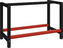 vidaXL Work Bench Frame Metal 120x57x79 cm Black