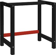 vidaXL Work Bench Frame Metal 80x57x79 cm Black