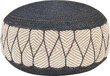 vidaXL Woven/Knitted Pouffe Jute Cotton 50x30 cm