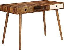vidaXL Writing Desk 110x55x76 cm Solid Sheesham
