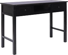 vidaXL Writing Desk Black 110x45x76 cm Wood