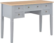 vidaXL Writing Desk Grey 109.5x45x77.5 cm Wood