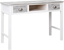 vidaXL Writing Desk Grey 110x45x76 cm Wood