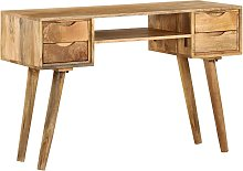 vidaXL Writing Desk Solid Mango Wood 115x47x76 cm