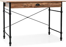 vidaXL Writing Desk with Drawer 110x55x75 cm Oak