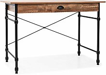 vidaXL Writing Desk with Drawer Oak Colour