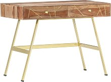 vidaXL Writing Desk with Drawers 100x55x75 cm