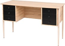 vidaXL Writing Desk with Drawers 120x55x76 cm Oak