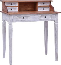 vidaXL Writing Desk with Drawers 90x50x101 cm