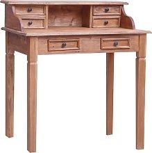 vidaXL Writing Desk with Drawers 90x50x101 cm