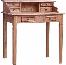 vidaXL Writing Desk with Drawers Durable Secretary