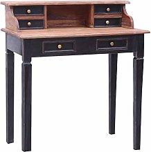 vidaXL Writing Desk with Drawers Durable Secretary