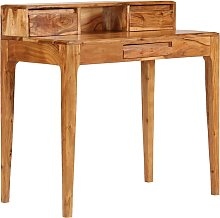 vidaXL Writing Desk with Drawers Solid Wood