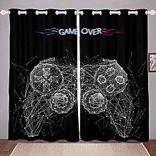 Video Game Window Curtain Panels,Boys Gamepad