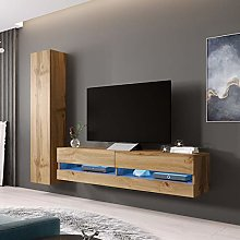 VIGO BMF New Wotan Wall Unit 9 TV Stand Cabinet