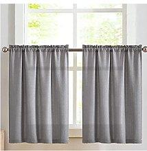 VIIPOO Half Curtain Bistro Curtain Sheer Curtain