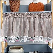 VIIPOO Half Curtain Lace Yarn Coffee Curtain Short