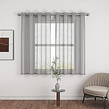 VIIPOO Half Curtains Sheer Small Curtains Voile